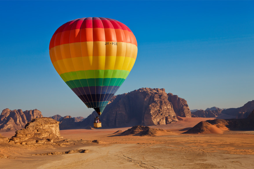 Jordanië: in een luchtballon over Wadi Rum