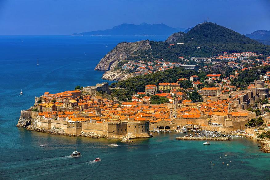 Uitzicht op Dubrovnik