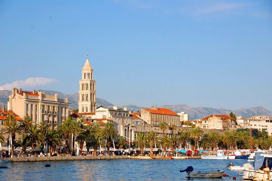 Kuieren langs het water in Split