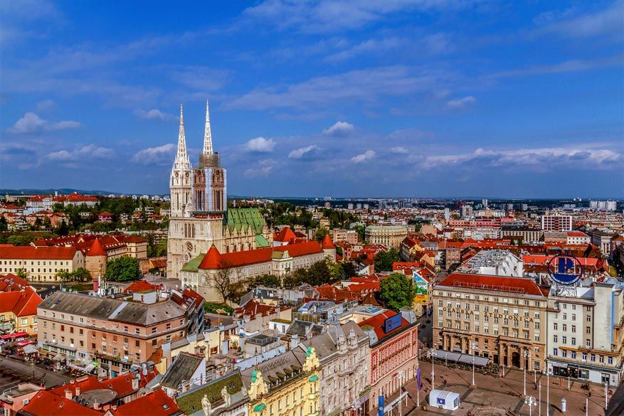 Uitzicht op de hoofdstad Zagreb