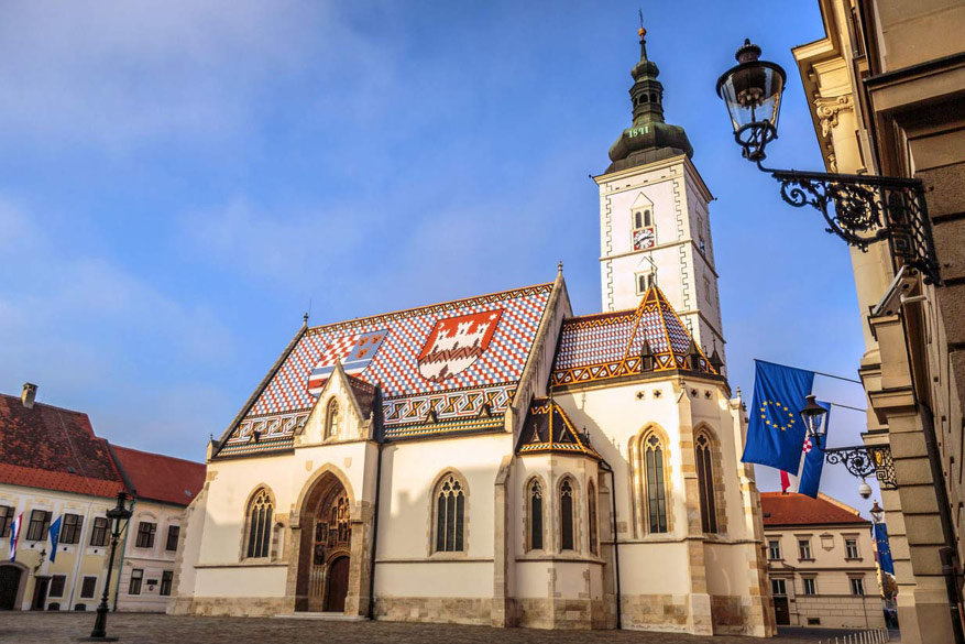 De Sint-Marcuskerk in Zagreb