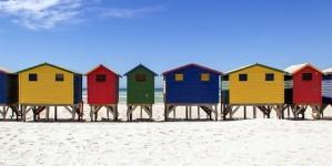 De kleurrijkste strandhuisjes ver weg en dichtbij