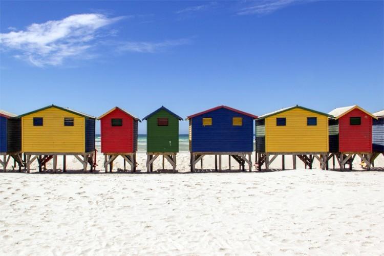 Muizenbergstrand in Zuid-Afrika © Wikimedia Commons