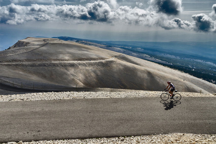 Fietsen op de Mont Ventoux