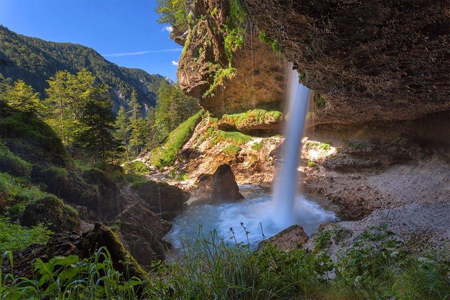 Slovenië: de Peričnik-waterval