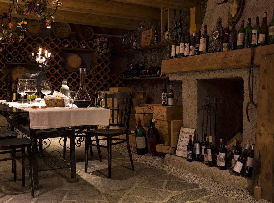 De wijnkelder in Angerer Alm