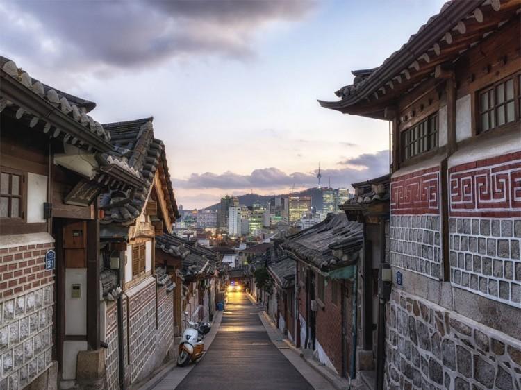 Bukchon Hanok Village, Seoul, Zuid-Korea