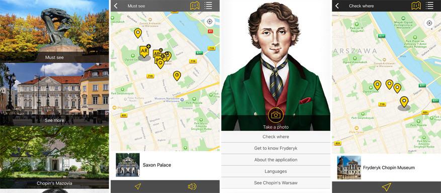 Chopin op je smartphone. © Toerisme Warschau