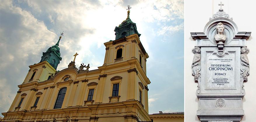Het hart van de jonge Chopin ligt in de Heilige Kruis kerk. © Elisabeth Fazel | © Toerisme Warschau