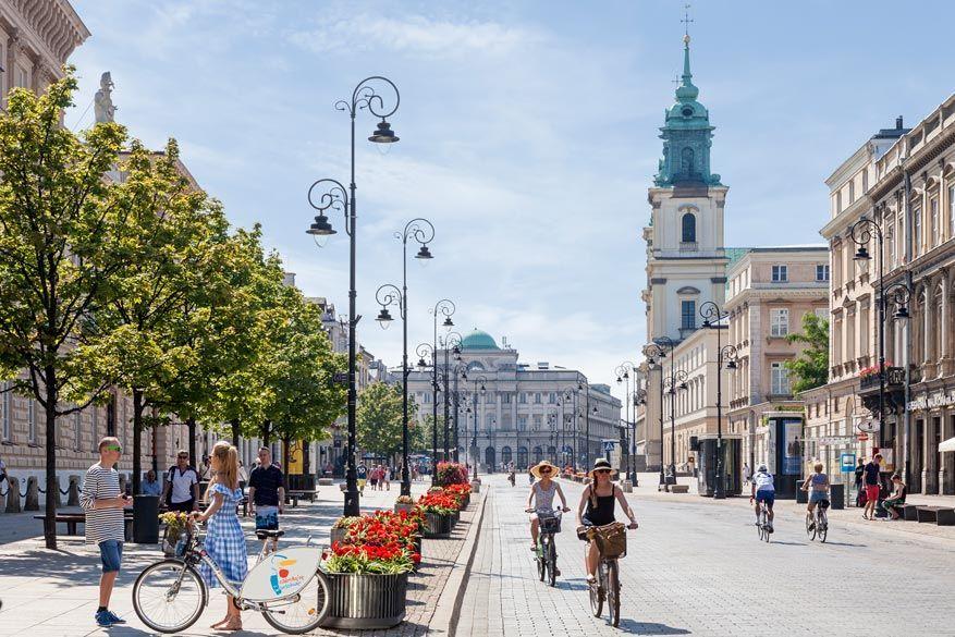 De Krakowskie Przedmieście straat. © Toerisme Warschau