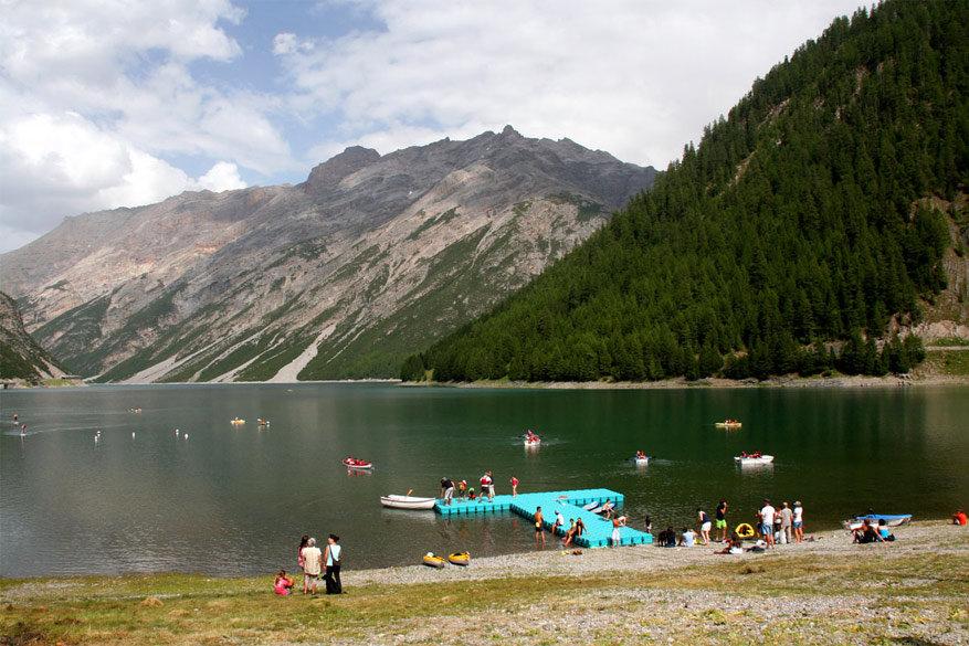 Livigno: waterpret aan het Lago de Livigno