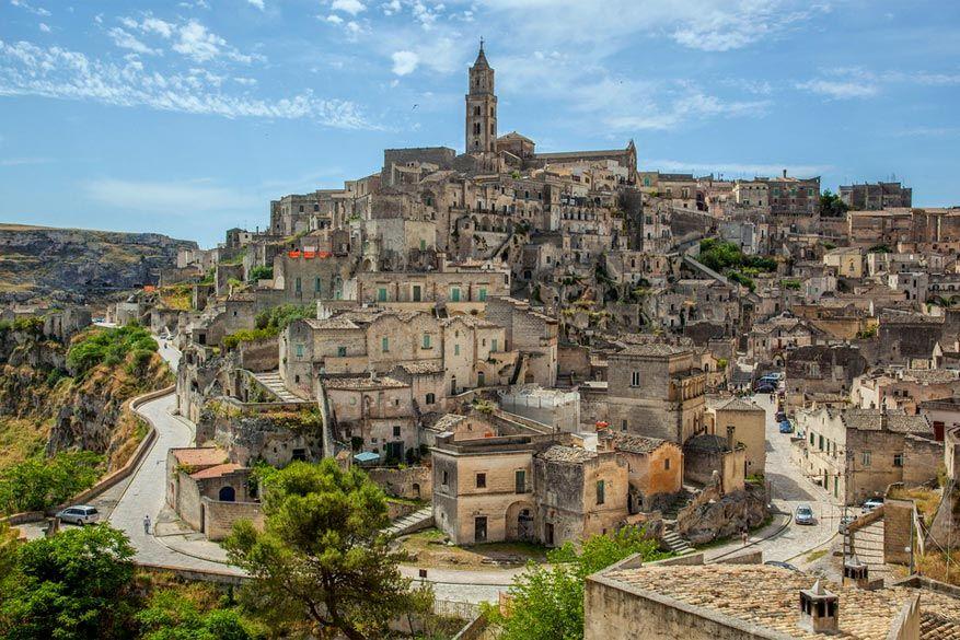 Zuid-Italië: uitzicht op Matera