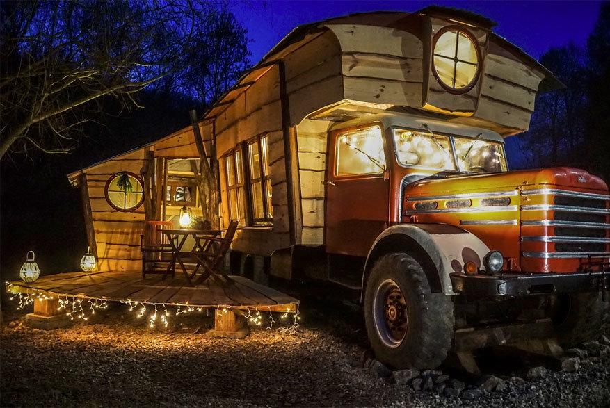 Mokus Vallei: overnachten in een omgebouwde truck