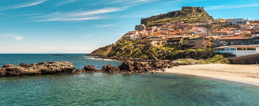 Strandlandschap in Sardinië