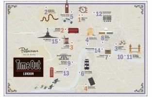 De kaart. © Pottermore en TimeOut London