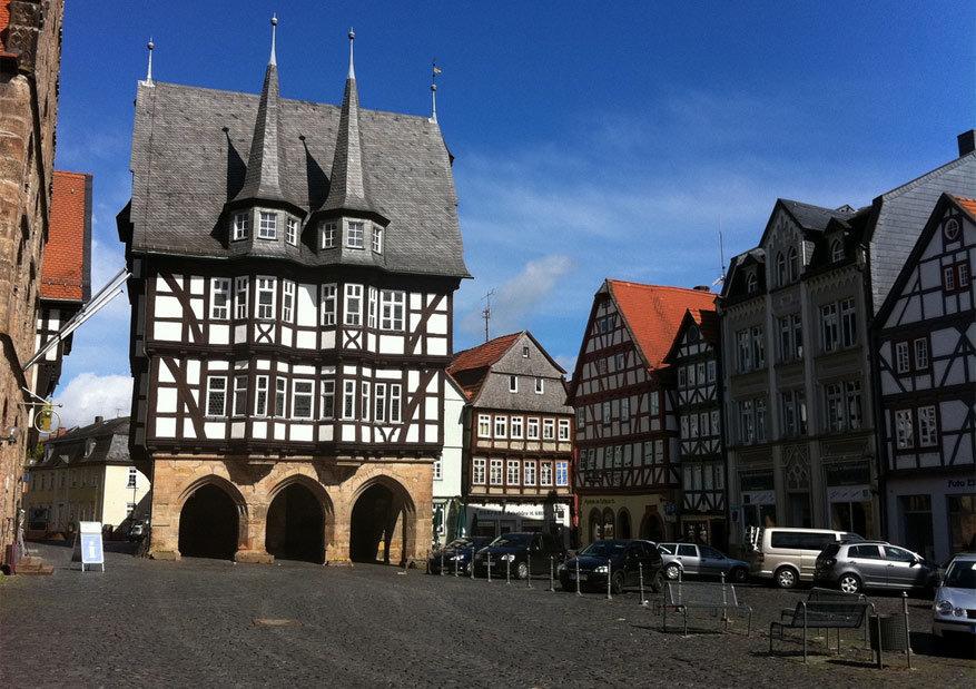 Het stadhuis van Alsfeld. © H.-Joerg Kretschmer