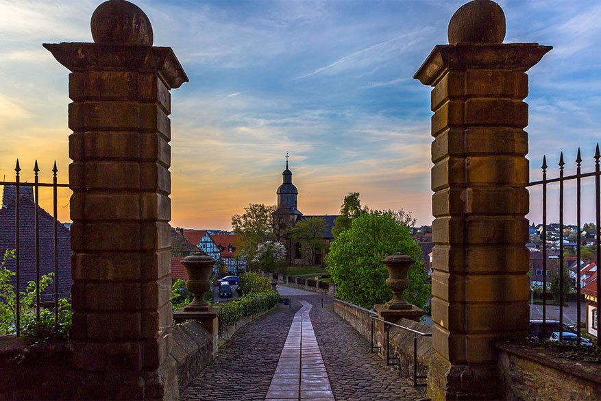 Op weg naar het kasteen van Friedrichstein in Bad Wildungen. © Karin Döling