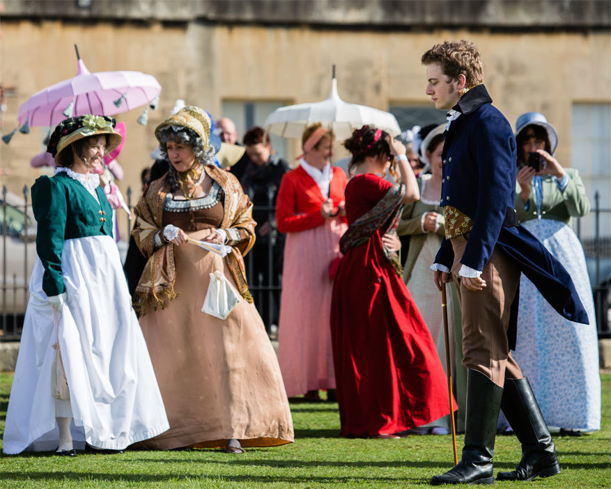 Bath: verkleedpartijen tijdens het Jane Austin Festival. © Jane Austen Festival
