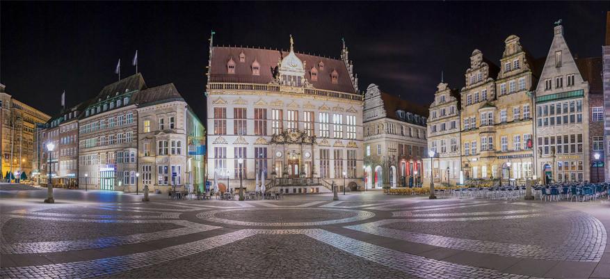 Het marktplein in Bremen. © Lincoln Santos