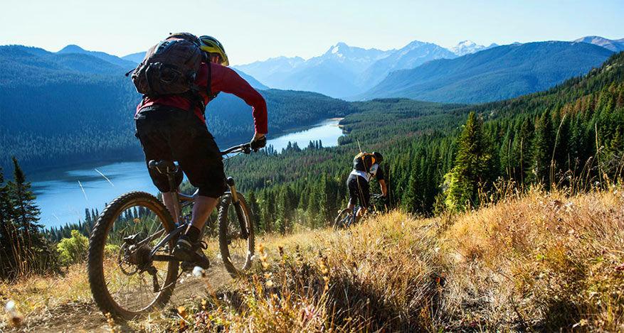 Mountainbikers voelen zich hier thuis. © Canada Marketing Committee