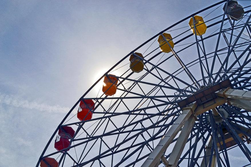 Het iconische reuzenrad in Dreamland, Margate. © Kiënta Martens
