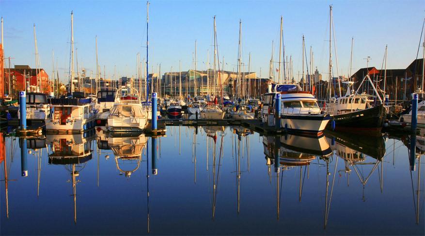 De haven van Hull