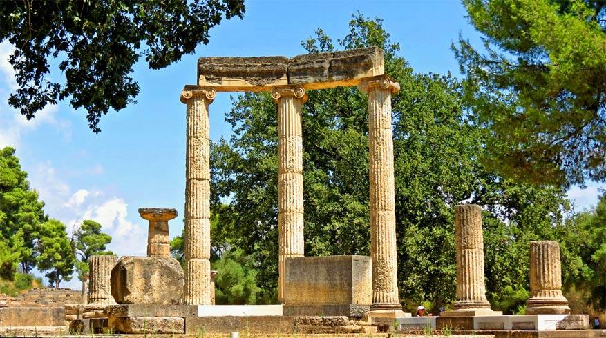 Het Philippeion ter ere van de Macedonische koning Philippos II.