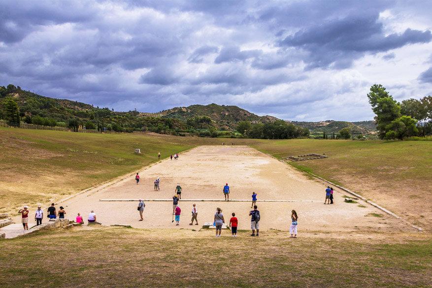 Het stadion van Olympia waar de loop en atletiekwedstrijden gehouden werden. © Ahmet Mehmetbeyoglu