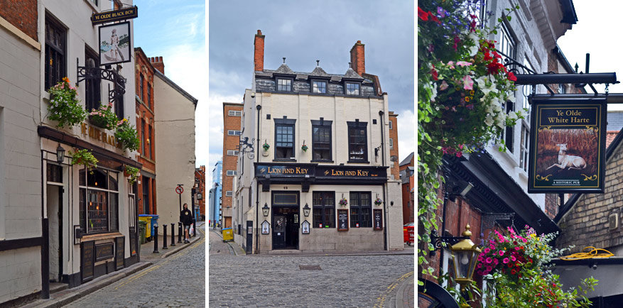 Hull Old Town bruist van de bruine pubs