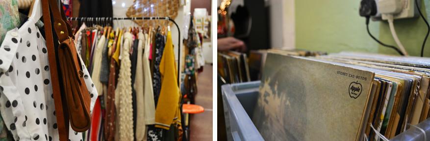 Onder andere vinylplaten en kleding uit vervlogen tijden vind je in het Petticoat Lane Emporium in Ramsgate. © Kiënta Martens