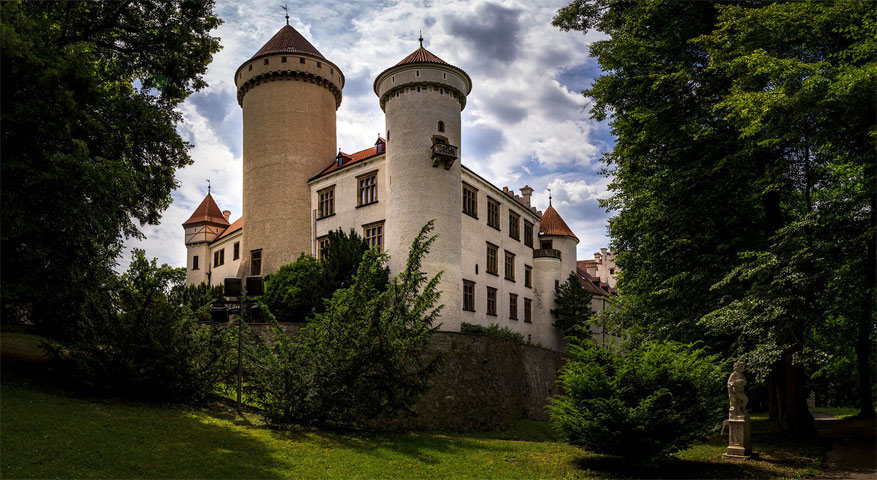 Het kasteel Konopište. © Jon Halvor Jonsrud Knutsen