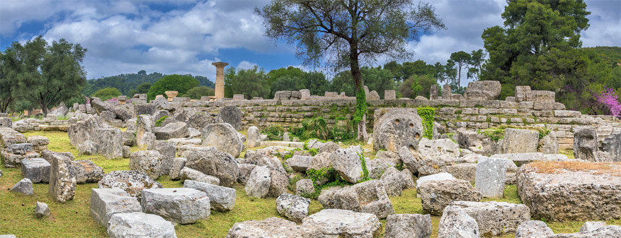 De indrukwekkende restanten van de tempel van Zeus Olympios.