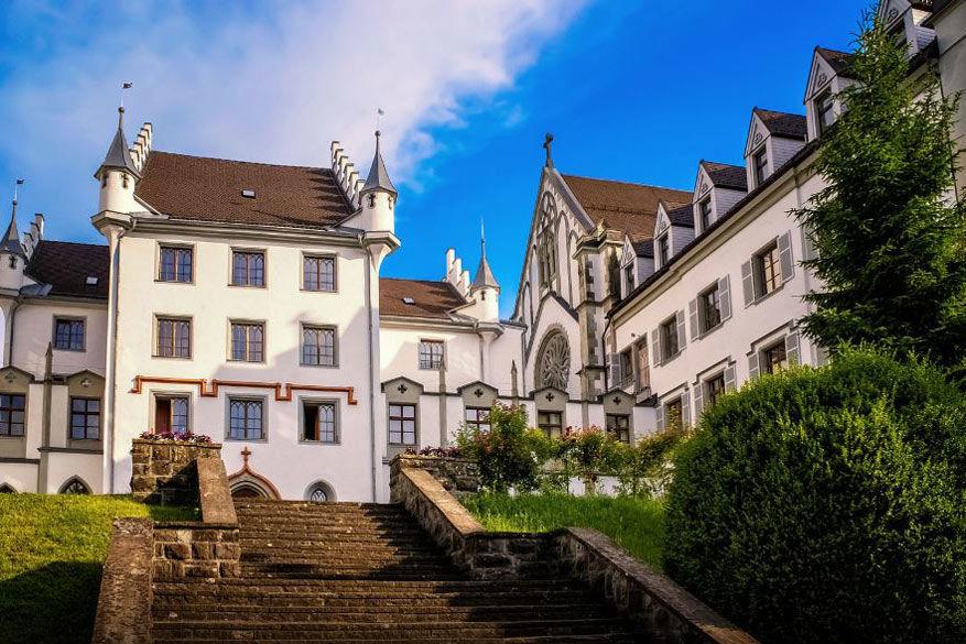 Het oude stadsgedeelte van Bregenz