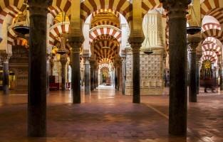 1. De Mezquita: een indrukwekkend staaltje architectuur vind je in de Mezquita, waar het even twijfelen is of je nu in een moskee dan wel een kathedraal staat. Beiden antwoorden zijn goed. De Moren begonnen in 784 met de bouw van de Visigotische kathedraal. De grote gebedsruimte met 1.293 pijlers werd in de 10de eeuw voltooid. Na de Reconquista werd er in het hart van de moskee een kathedraal gebouwd, die de Islamitische architectuur niet wist te overschaduwen. Tip: ga vroeg in de ochtend op bezoek. © Jaroslaw Gorowski