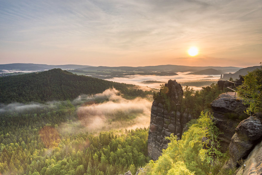 De rotspartijen in Sächsische Schweiz. © Andreas Lichtenau