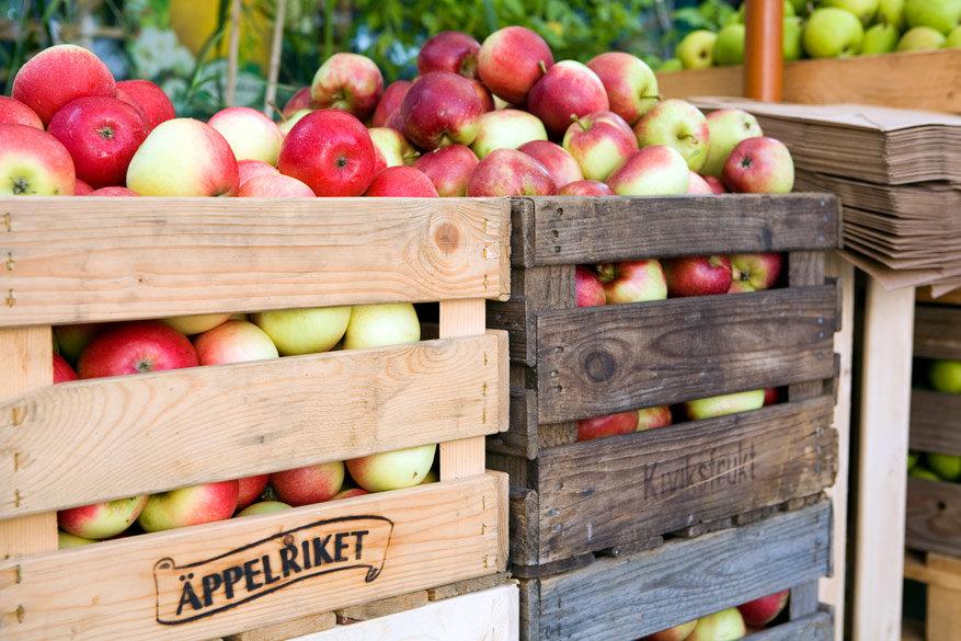 Resultaat na de appelpluk