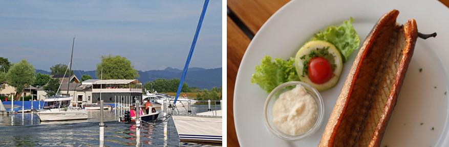 Eten doe je hier met uitzicht op de jachthaven © Fränzle's Bistro