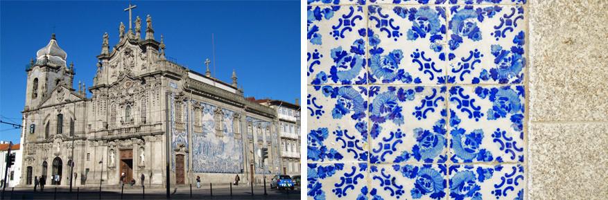 Igrejas das Carmelitas met haar Delfts blauwe versieringen