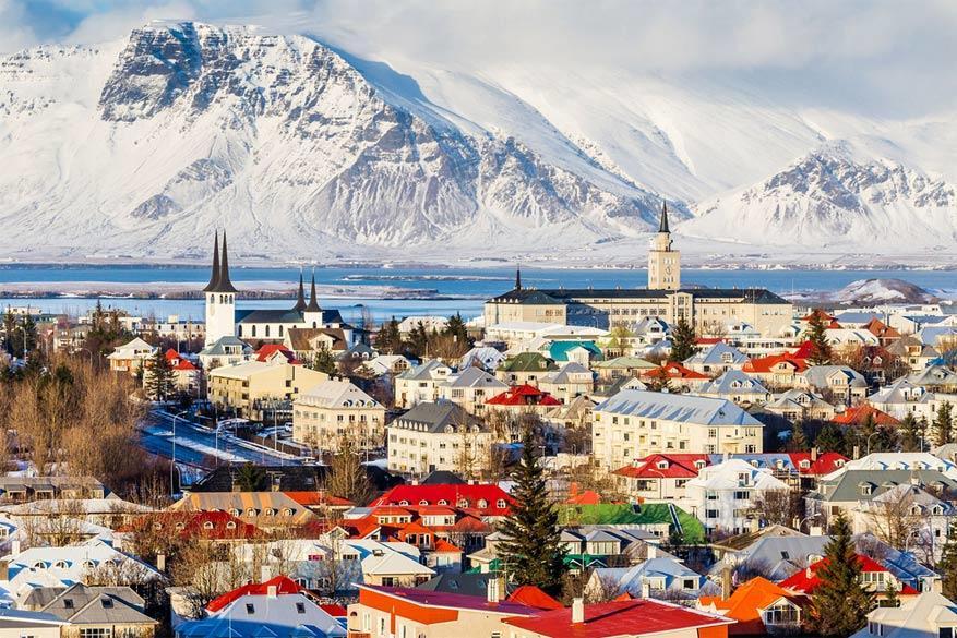 Reykjavik onder de sneeuw