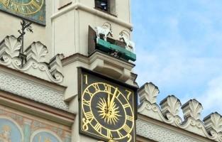 1. Kijken naar de geiten op de middag: midden op de markt van Poznan verheft zich het prachtige stadhuis, opgetrokken in renaissancestijl. In 1551 werd in de toren van het stadhuis een klok geïnstalleerd met geitjes, die sindsdien elke dag om 12u stipt twaalf keer met hun horens tegen elkaar opbotsen. Volgens de legende waren echte geitjes aan het vechten op de toren precies op de dag waarop de klok zou worden ingewijd. Ze waren ontsnapt uit de handen van een kok, die ze wou braden aan het spit. Toen de mensen de geitjes zagen op die vreemde plek, werd prompt besloten om een mechanisme aan de klok vast te maken, dat ze elke dag tevoorschijn zou toveren. © Happy Frog Travels