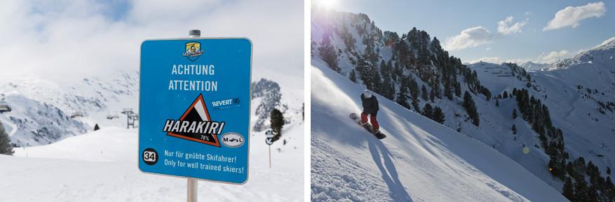 Wie durft van de steilste piste in Oostenrijk, de Harakiri?