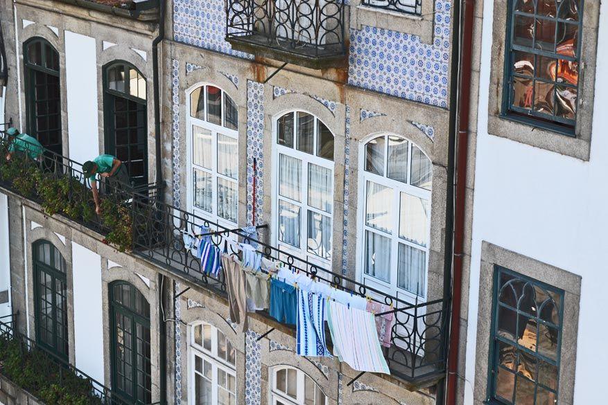Een doordeweekse dag in Porto: de was is bijna droog