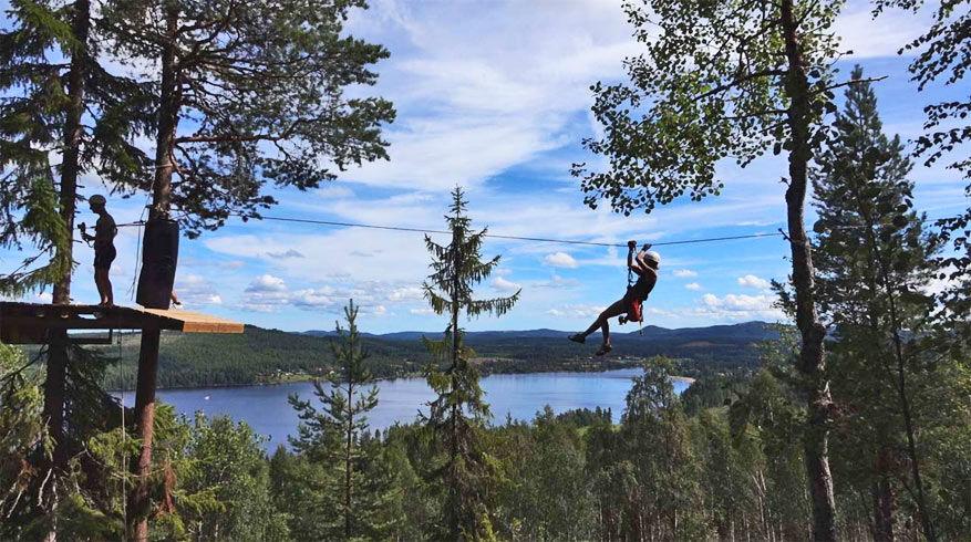 Ziplinen in Orbaden Zip & Climb © Orbaden Zip & Climb