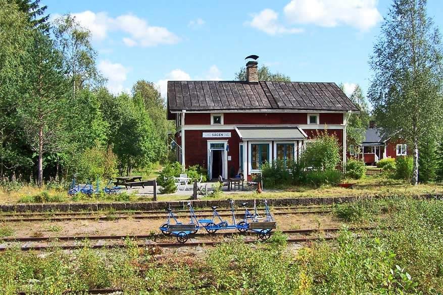 Het station van Sågen © Bob Van Ettinger