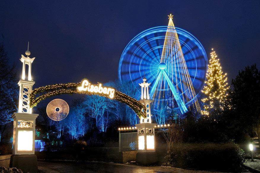 Ook pretpark Liseberg staat helemaal in het teken van de kerstperiode