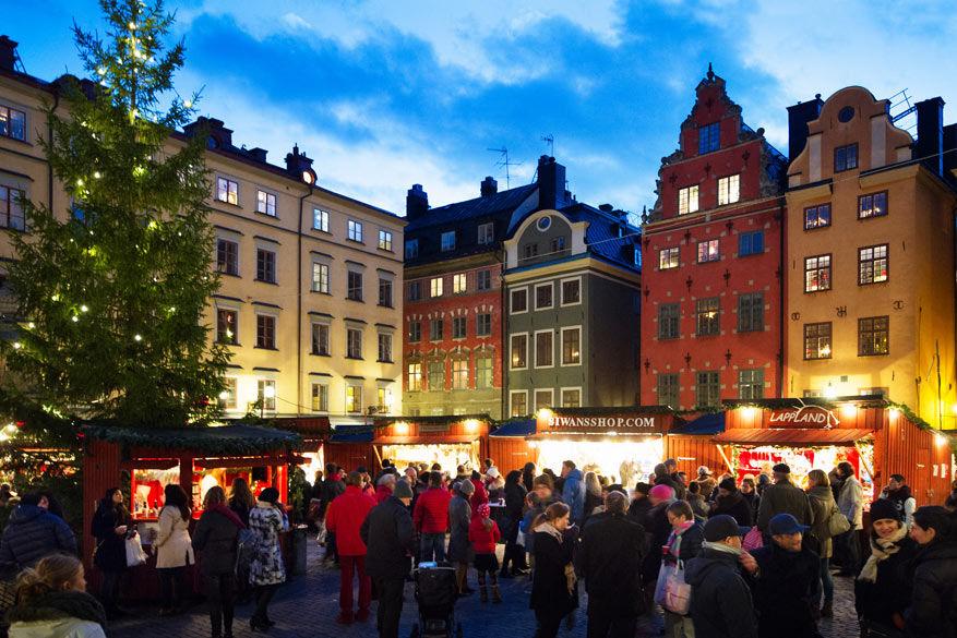 Kerstmis vieren in hoofstad Stockholm