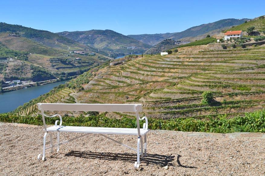 Uitzicht op de Douro vanop het terras van Quinta Nova