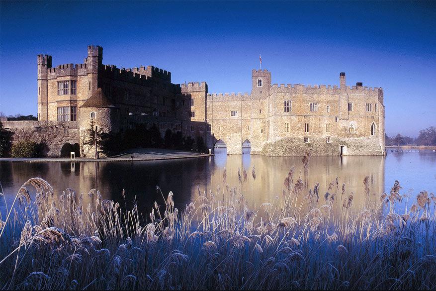 Leeds Castle in een winters decor.