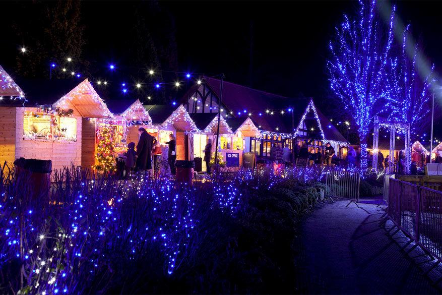 De kerstmarkt in Tunbridge Wells.