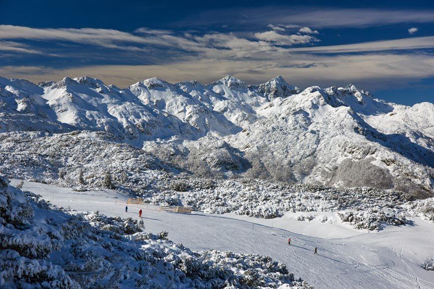 Vogel Ski Resort in het noordwesten van Slovenië is een van de mooiste skigebieden van het land.